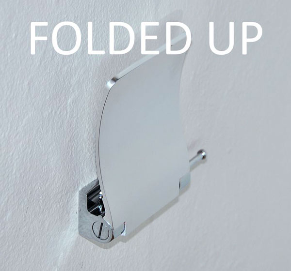 Aluminium Shower Fold Up Shaving Footrest Folding Foot Rest Surface Mount