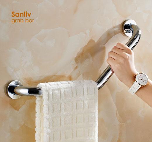Shower Grab Bars Bathroom Safety Rails Sanliv Commercial Bathroom Accessories Sets
