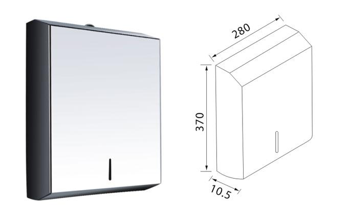 Wall Mounted Paper Towel Dispenser 5821 Stainless Steel Toilet Tissue Holder