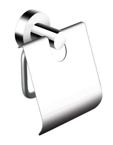 Chrome Toilet Paper Holder With Cover 8751