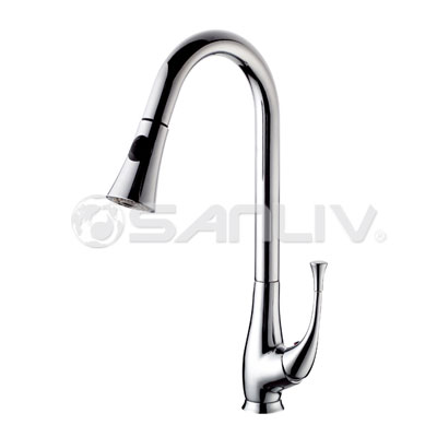 Single Lever Tall Pull Out Kitchen Faucet 28102 Pullout Spray